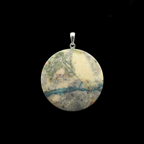 Azurite / Malachite / Dolomite Pendant - Handmade