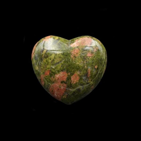 Unakite Heart Palm Stone