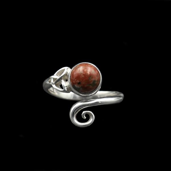 Keltischer Wirbel Ring - Silber - Verstellbar