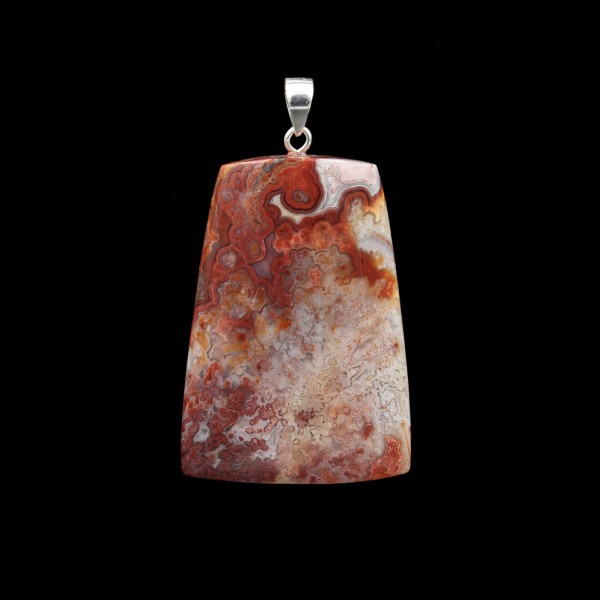 Crazy Lace Agate Pendant - Handmade