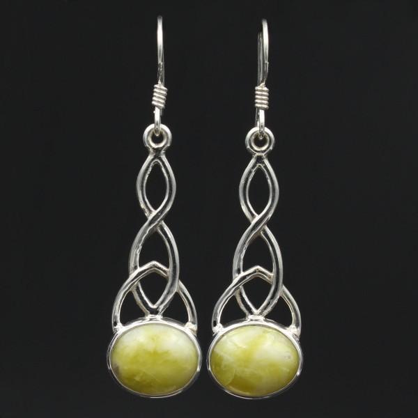 Keltischer Knoten Silber Ohrringe - Groß