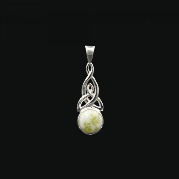 Schottischer Iona Marmor Keltischer Knoten Anhänger - Klein