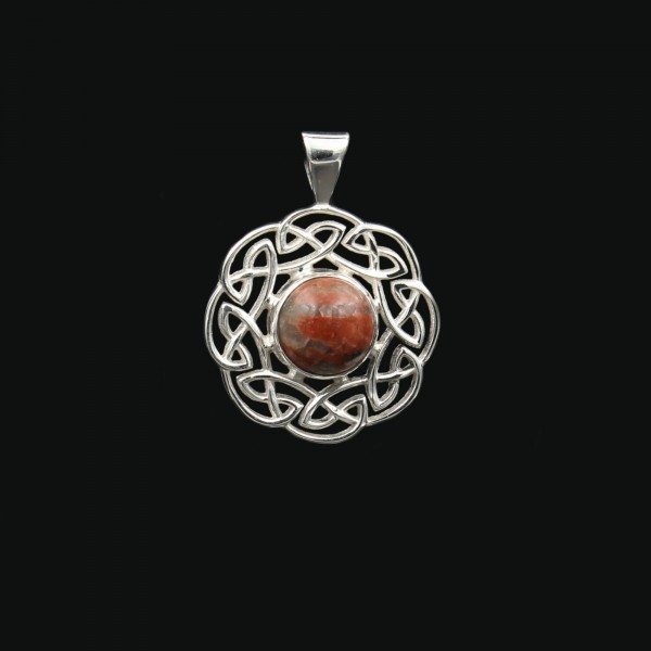 Scottish Lewisian Celtic Sun Silver Pendant