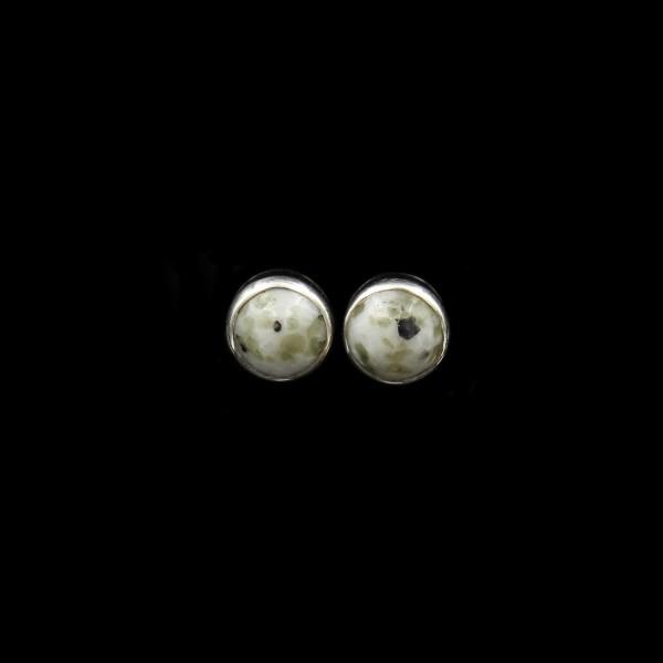Scottish Iona Marble Stud Earrings - 8 mm