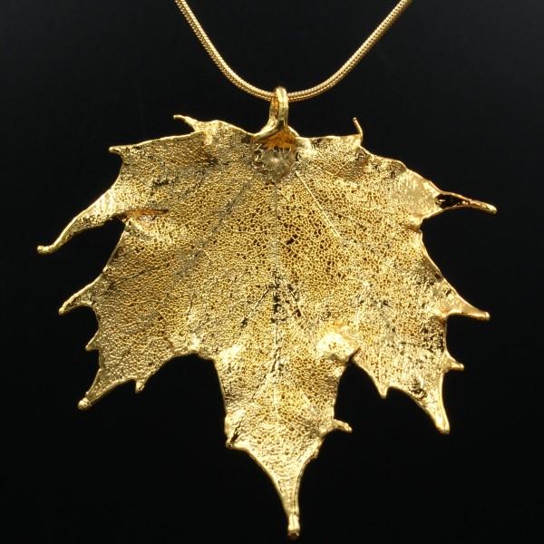 Kanadischer Ahorn Anhänger vergoldet - Unikat 1