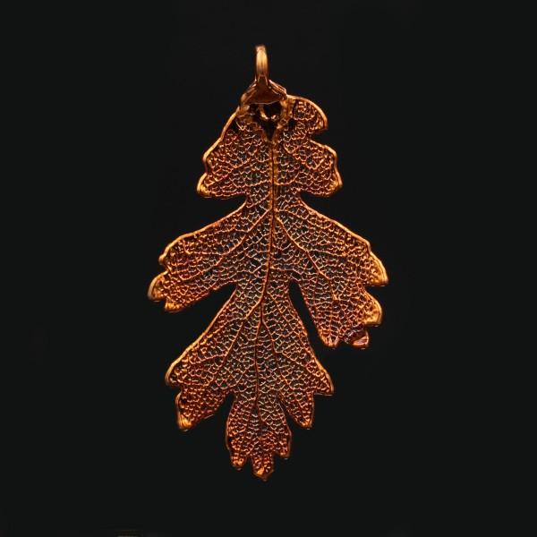 Oak Leaf Pendant Copper Plated Medium