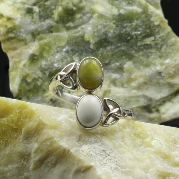Keltischer Doppelstein Ring