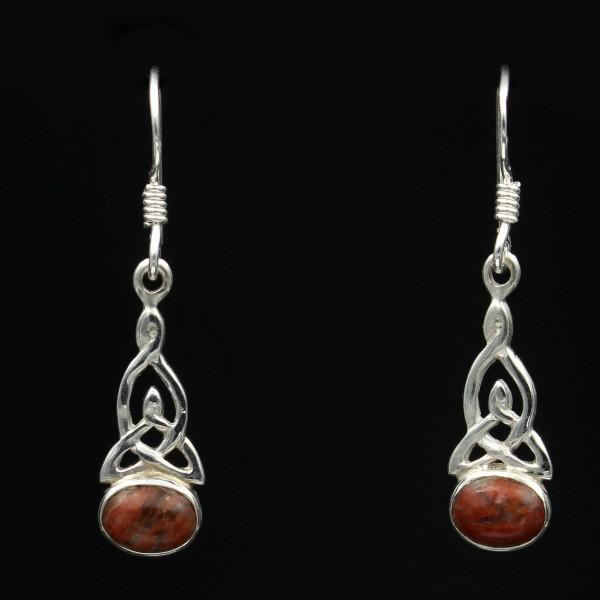 Schottischer Lewisian Ohrringe Trinity Twist Silber - Unikat 1