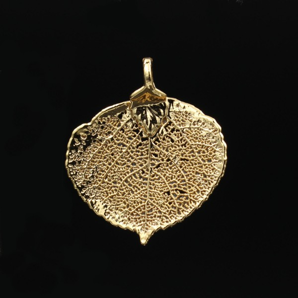 Aspen Leaf Pendant - Gold Plated