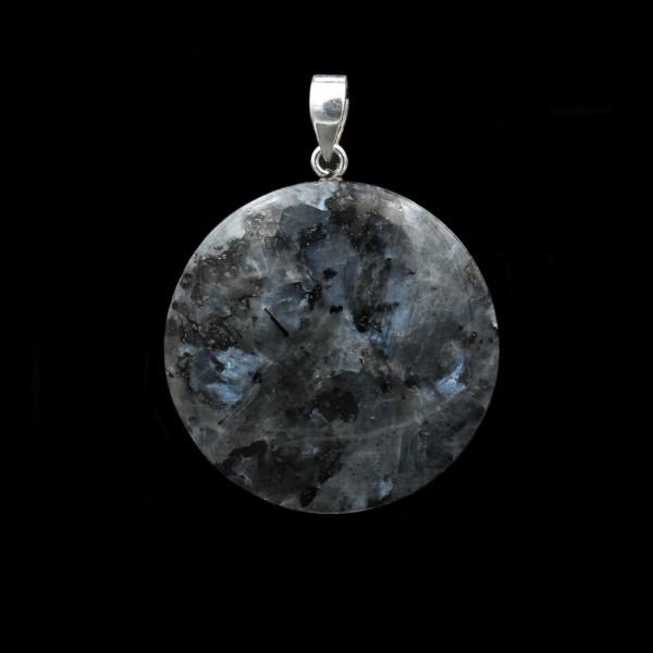 Larvikite / Blue Pearl Granite Pendant - Handmade
