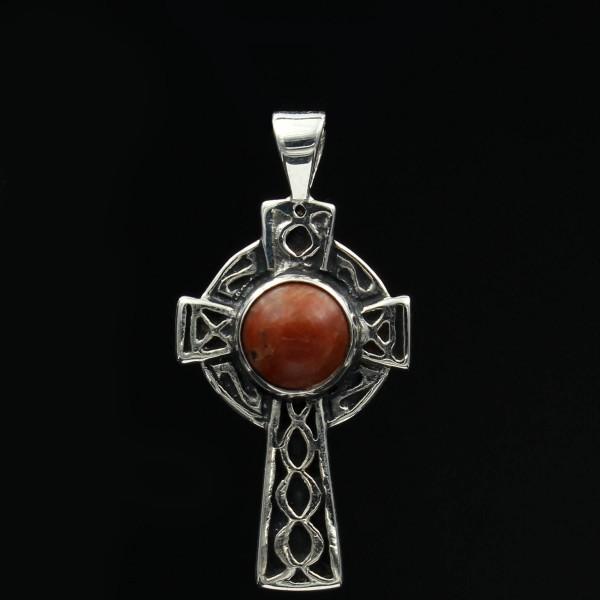 Schottischer Lewisian Anhänger keltisches Kreuz Silber