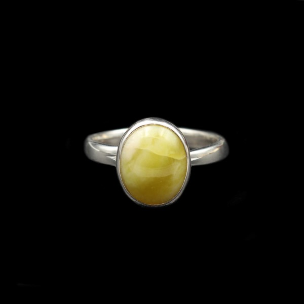 Scottish Highland Marble Silver Ring - Adjustable