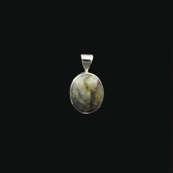 Scottish Skye Marble Silver Pendant